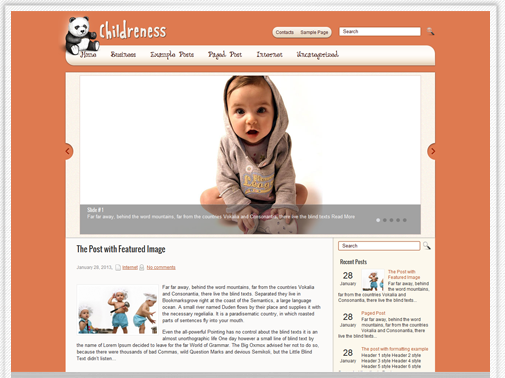 childreness - kids theme for wordpress