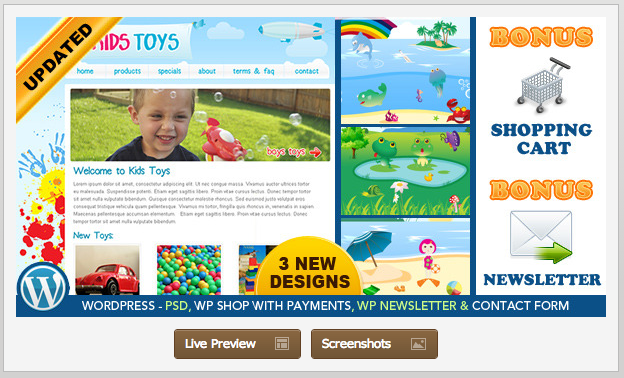 kids toys - ecommerce kids theme