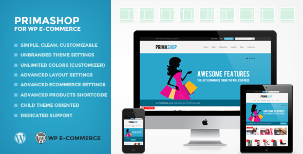 kids wordpress themes - primashop
