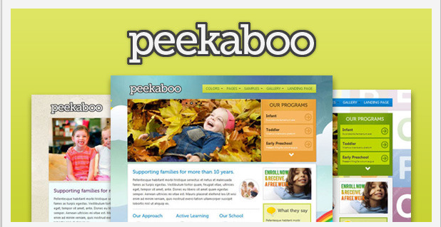 peekaboo - kids wordpress themes